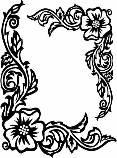 Drawn rose bush border 102  com/images/rose pages Rose