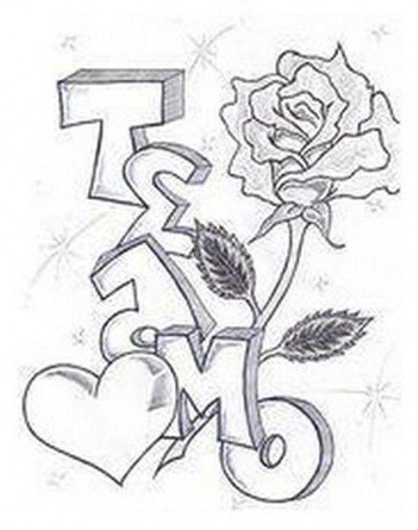 Drawn rose bush graffito With 13 Graffiti Te Amo
