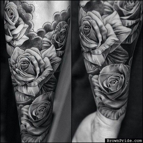 Drawn rose bush half sleeve Ideas rose for on for
