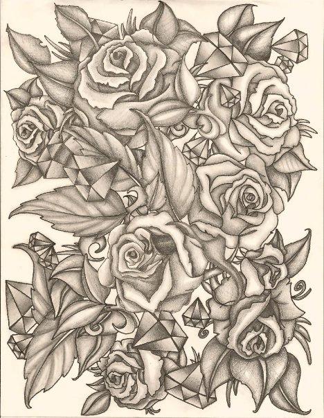 Drawn rose bush half sleeve Flickr Ink taz tattoo tasmanian