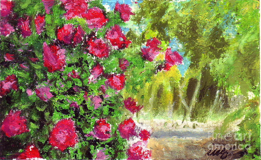 Drawn rose bush rose garden Park Drawing Gross by Rose