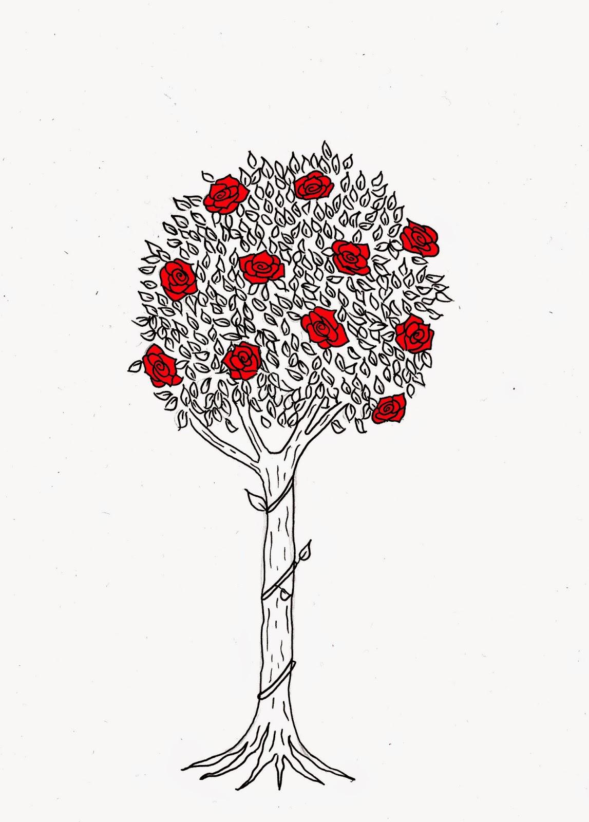 Drawn rose bush rose tree Drawing of adding because also