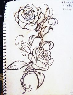 Drawn rose bush antique flower Thinking красивые украшения Designs the