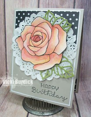 Drawn rose bush stamp And this Cards on Pinterest