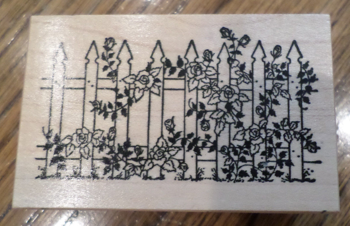 Drawn rose bush stamp Garden F Rose Rubber With