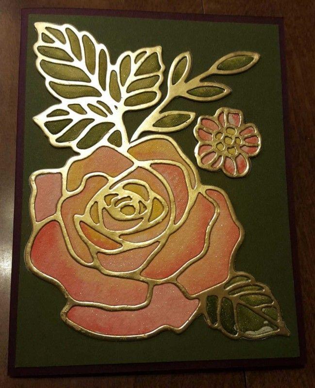 Drawn rose bush stamp Garden Wonder Splitcoaststampers bizzyoma44 Wonder
