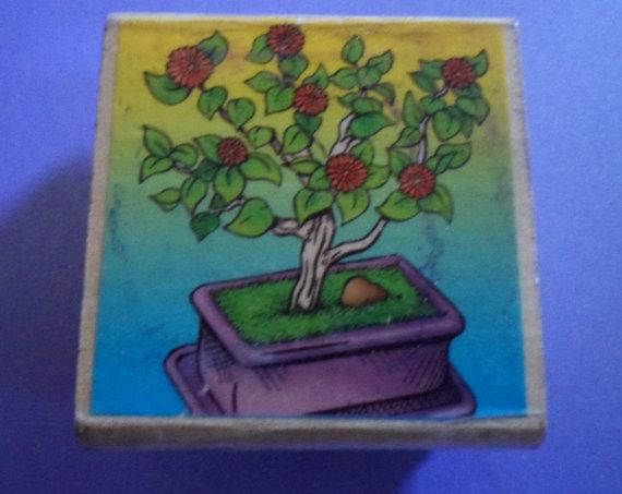 Drawn rose bush stamp  25