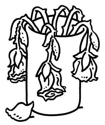 Drawn rose bush wilted flower Flower Cartoon com Wilted mehmetcetinsozler