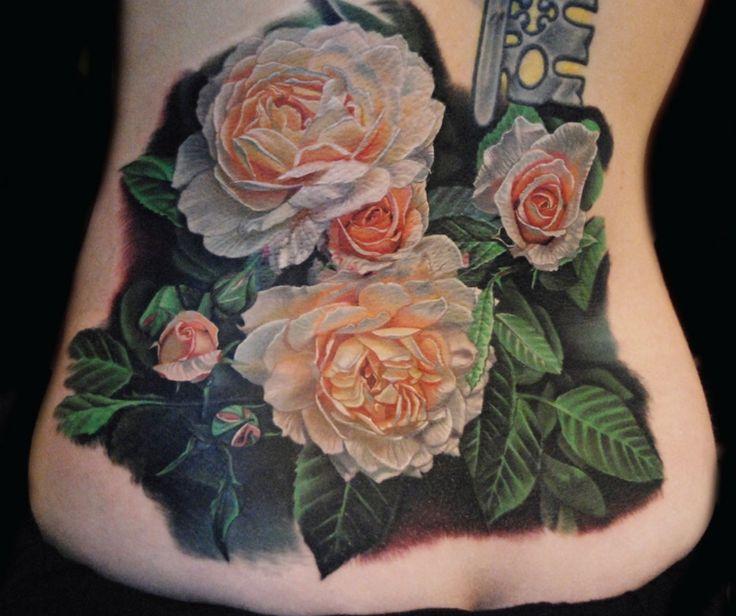 Drawn rose bush woman Tattoo the TattoozZa Rose on