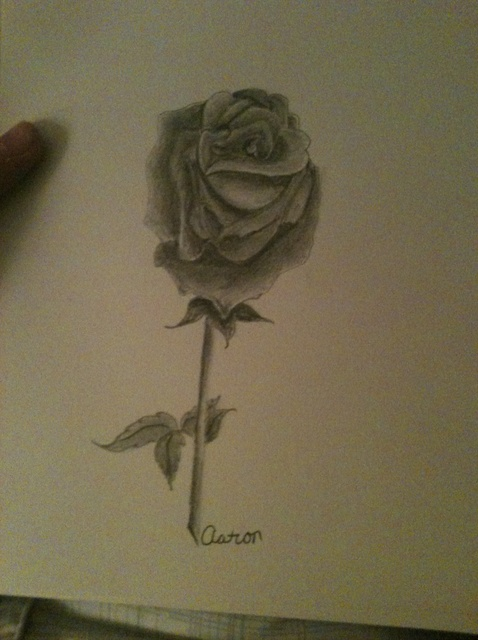 Drawn rose charcoal drawing Or Charcoal) Use Draw to