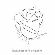 Drawn rose closed Drawn 6 Rose AI Rose