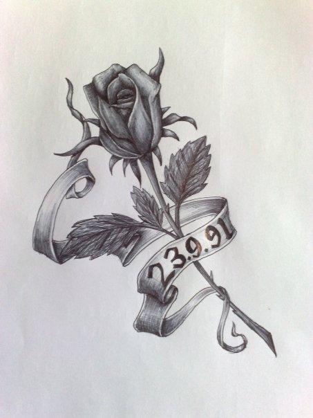 Drawn rose closed Rose callum tattoo on rose