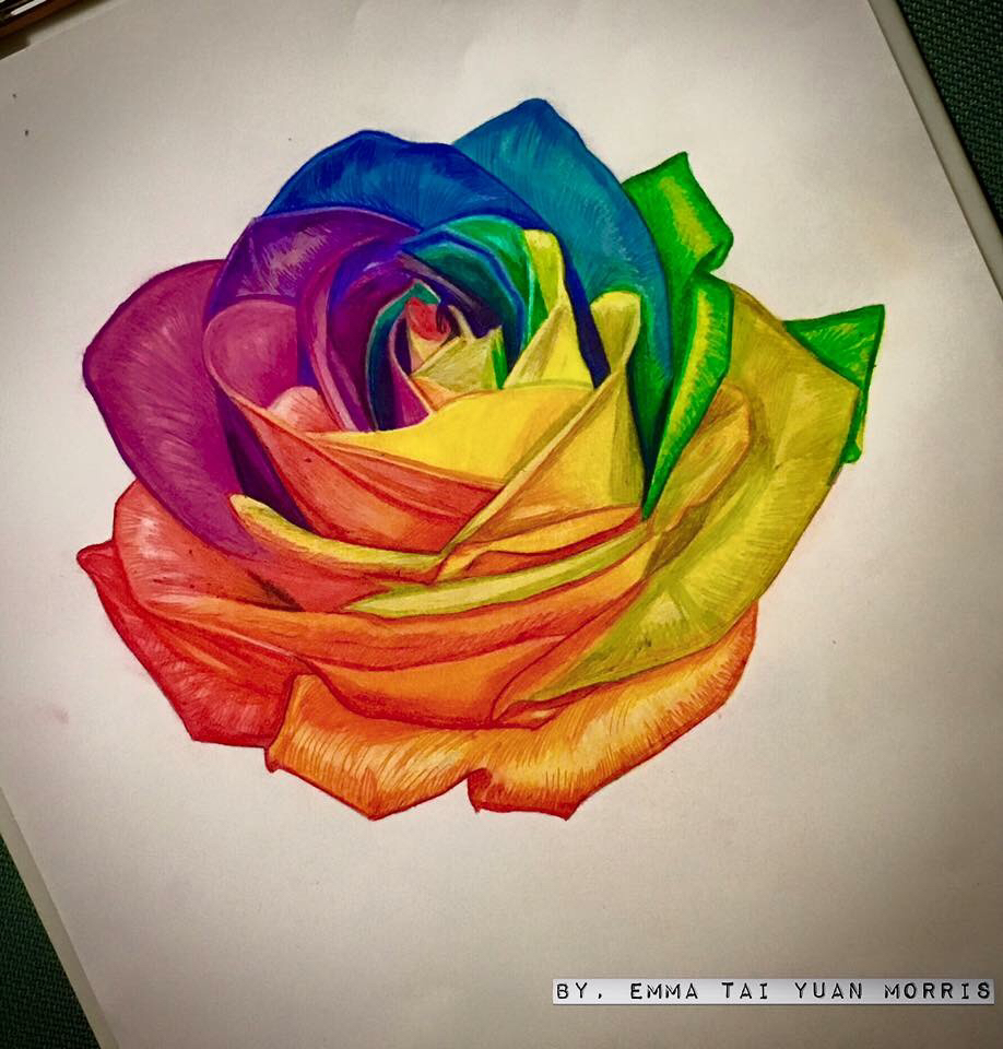 Drawn rose color #color #rosetattoo…  #color rose