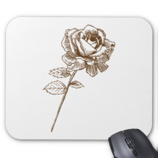 Drawn rose computer Drawn Mouse Zazzle Pad Hand