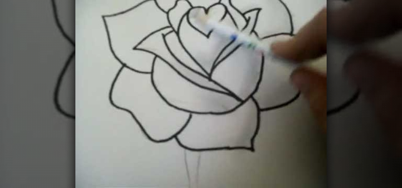 Drawn rose computer By with Illustration by Drawing