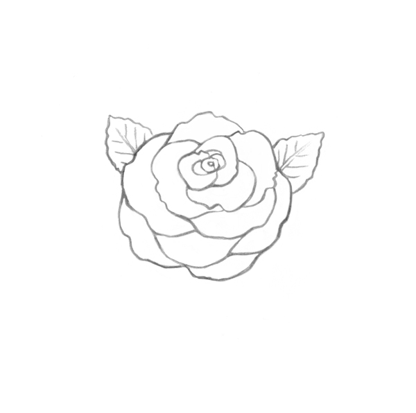 Drawn rose computer Roses Ink Skull Drawing to