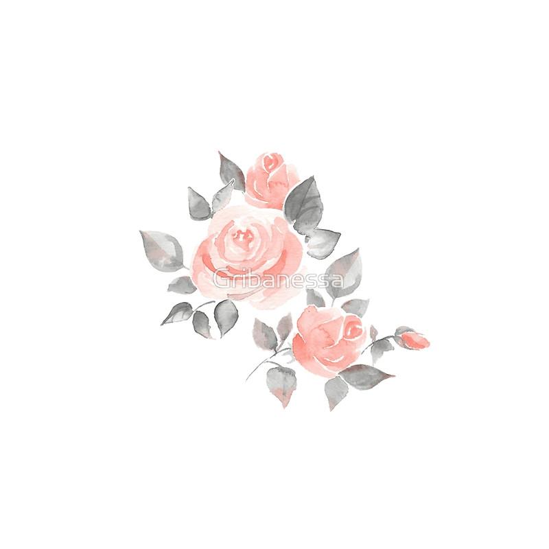 Drawn rose contrast Tanks Beautiful flowers Tanks roses