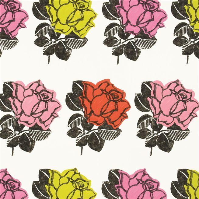 Drawn rose contrast Unlimited Ramblas Designers Rose fabric
