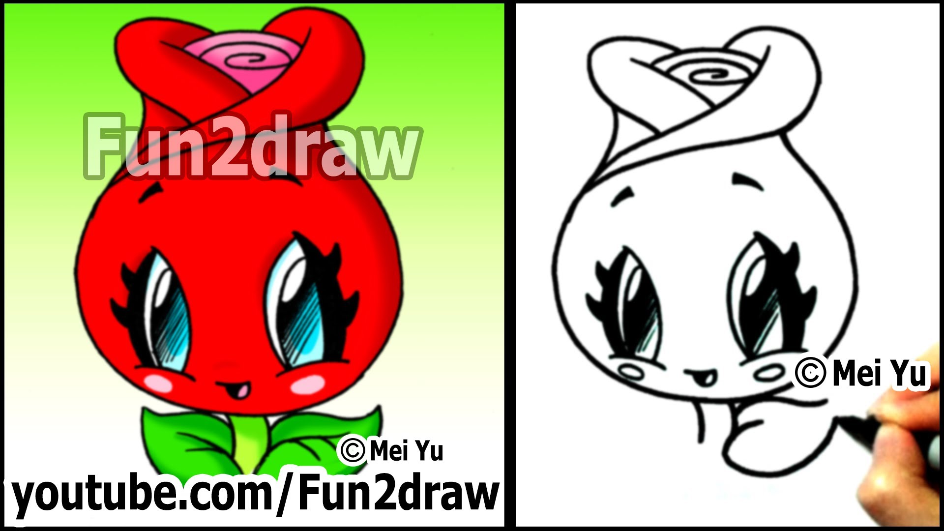 Drawn rose cute Easy a to Drawings) Draw