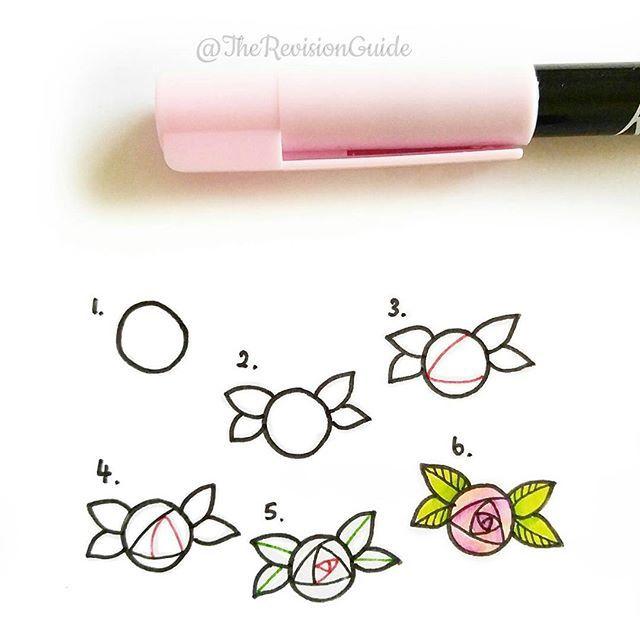 Drawn rose cute RoseRose to  · looooong