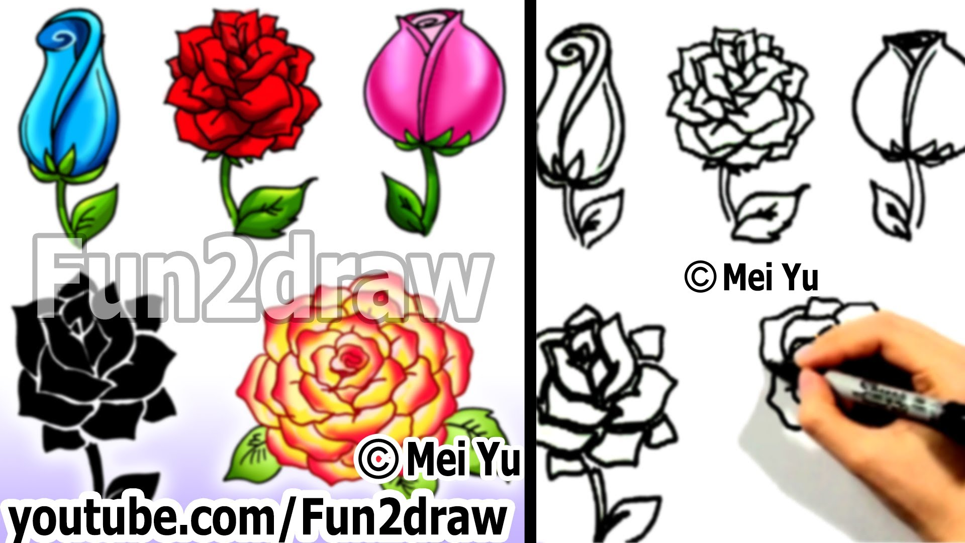 Drawn rose cute Ways Fun2draw Lessons a to