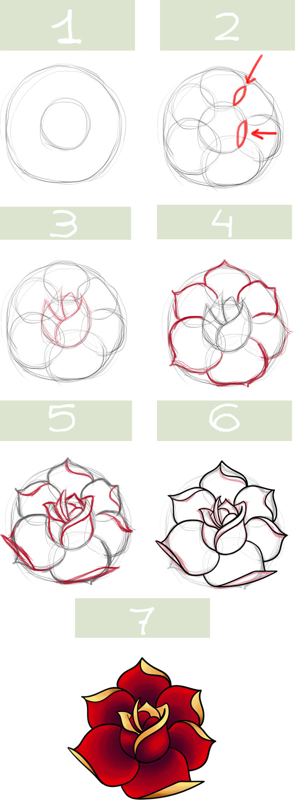 Drawn rose detail drawing :/ draw kids must this