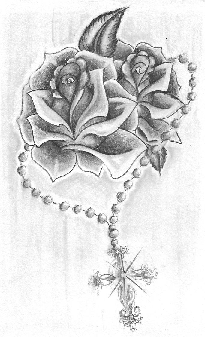 Drawn rose deviantart Roses by with deviantart &