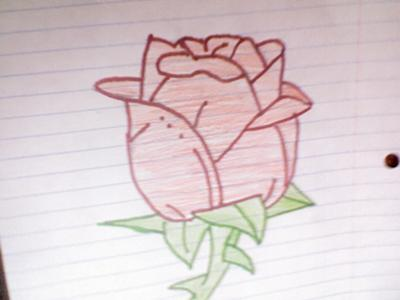 Drawn rose draw a The drawing using the of