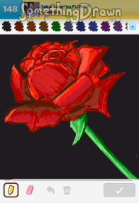 Drawn rose draw something Drawn com by SomethingDrawn on