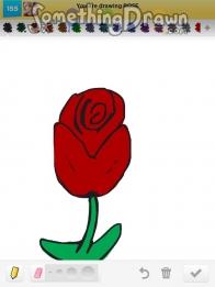 Drawn red rose draw a Something on Something Draw SomethingDrawn