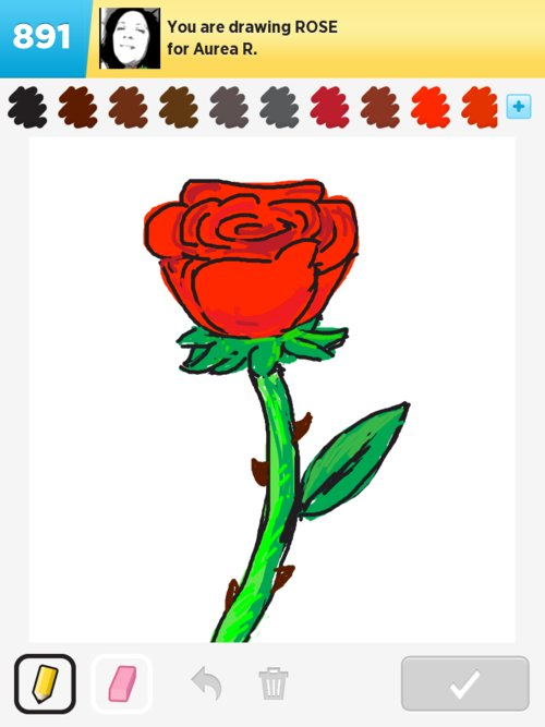 Drawn rose draw something Draw the Something Draw of