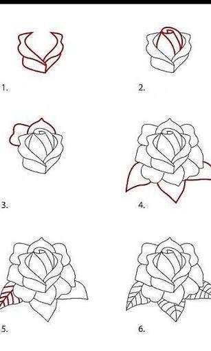 Drawn rose drowing Con Buscar Google <3 Pinterest