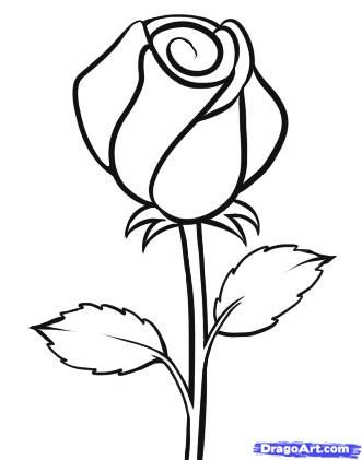 Drawn rose easy Flowers  an drawing Easy