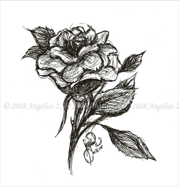 Drawn rose emo Drawing Rose Free 27+ Rose