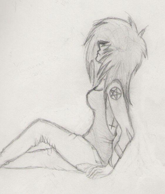 Drawn rose emo DIS! LUV on 3186 girl