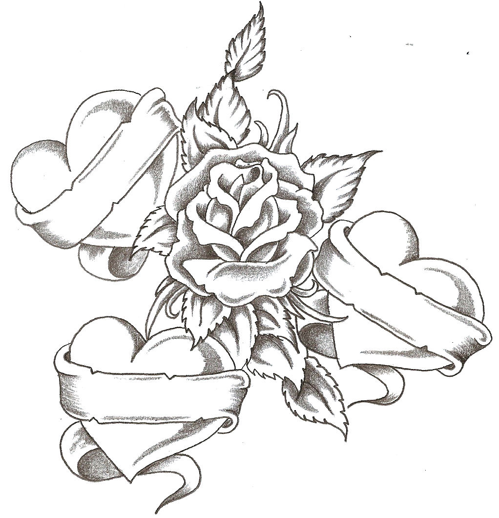 Drawn rose emo Drawing on Gallery Clip Art
