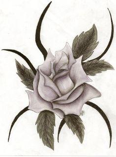 Drawn rose emo ~Onyx & by Witch Emo