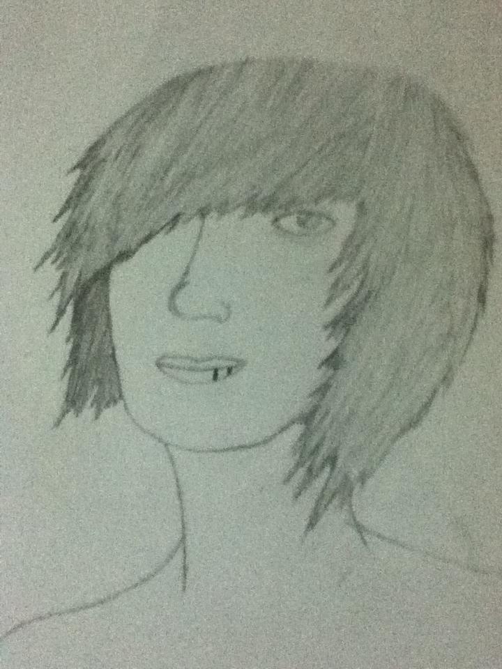 Drawn rose emo By Surrender 1) 1) guy