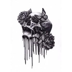 Drawn rose emo Art Fine Polyvore on Graphite