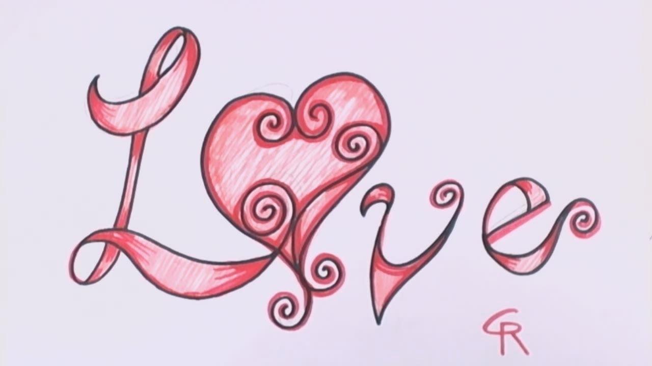 Drawn rose fancy Curly Fancy CC in Love