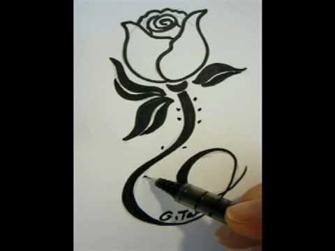 Drawn rose fancy A Draw  YouTube Pretty