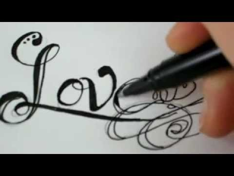 Drawn rose fancy heart Letters Draw 7  To