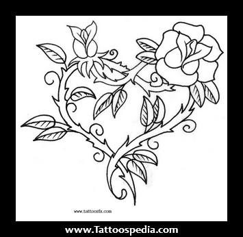 Drawn rose fancy heart On  and Heart Roses