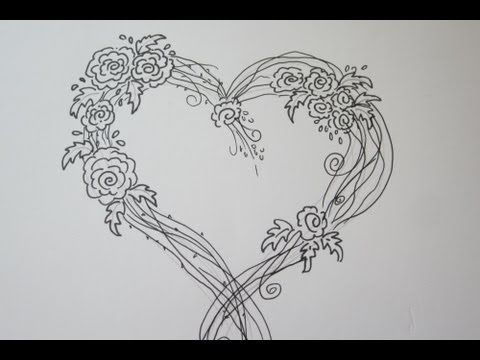 Drawn rose fancy heart A Drawing 106 images Amazing