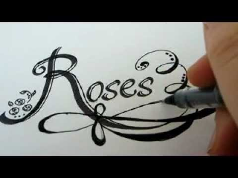 Drawn rose fancy heart With Graffit ROSE Draw How