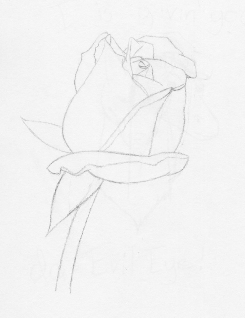 Drawn rose full By Hand Hand DeviantArt Icefire23