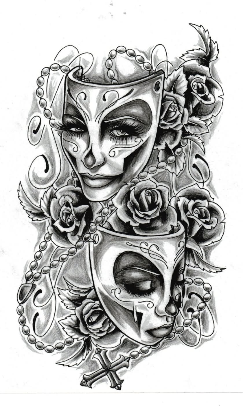 Drawn rose gangster Tattoo Wonderful Designs 23+ Gangster