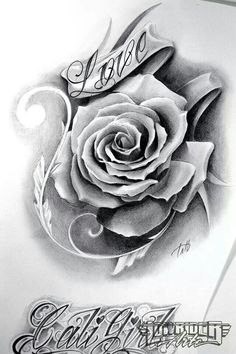 Drawn rose gangster Tattoo http://tattoomenow create Rose#Tat#Beautiful tattooroman