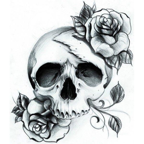 Drawn rose girly skull Love Skull love as have