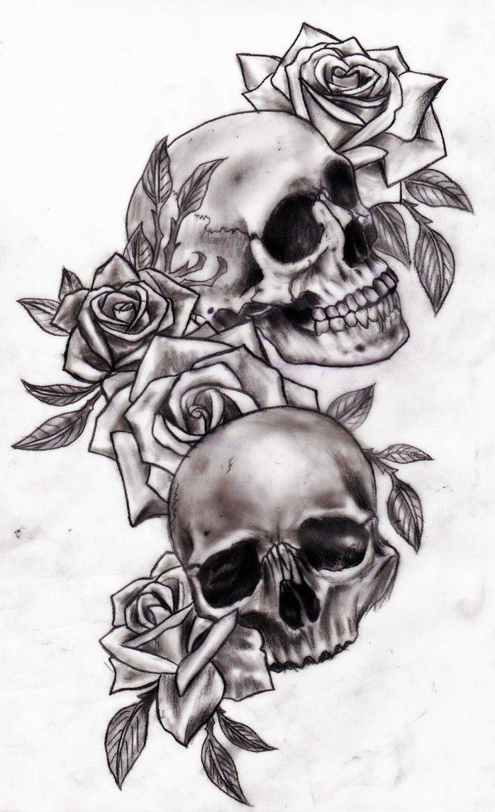 Drawn rose girly skull Script Like by  Alexabelle